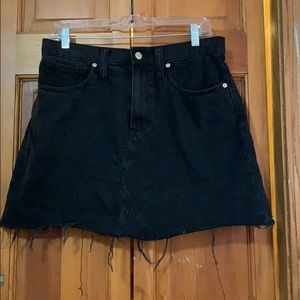 Madewell Black Stretch Jean Skirt